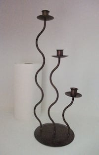 3 Tier Copper Colour Metal Candle Holder, New