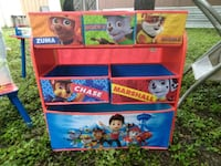 Paw patrol organizer and table  Temple