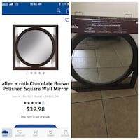 Allen + roth chocolate brown polished square wall mirror Bakersfield, 93304