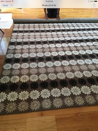 Martha Stewart Contemporary Rug - Brown, Black, White, and Tan in color and approximately 9' by 12' in size. Guilford, 06437