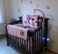 baby's brown wooden crib null