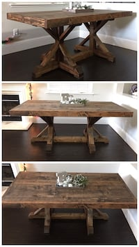 6FT x 3FT Solid Wood Rustic Farmhouse Dining Table Danville
