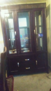 brown wooden framed glass display cabinet Laurel, 20707