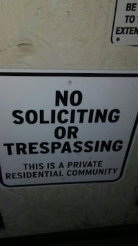 No Soliciting or Trespassing signage Evansville, 47710