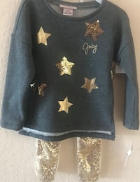 2 Brand New Tags Juicy Couture Two Piece Toddler Girl Outfits 3T 3 Stars Retail $70 Each Plantation, 33322