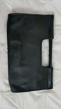 Spring black clutch bag
