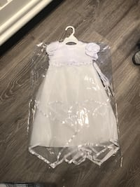 White baby dress 9-12 months Mississauga, L5A 3X3