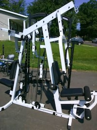 white and black gym equipment Alexandria, 22310