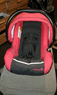 baby's red and black Safety car seat carrier Edmonton, T5L 2X2