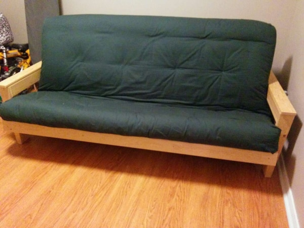 Barely Used Futon Sofa With Double Size Mattress