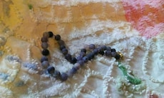 Beautiful blue  real agate necklace