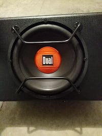 Dual 300w 12 inch powered subwoofer, 300w amp.
