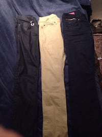 blue and black denim jeans Edmonton