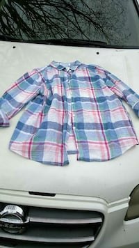 white, pink, and blue plaid sport shirt Knoxville, 37912