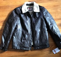 Levi's leather bomber jacket NWT