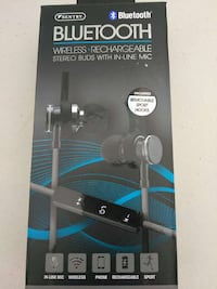 black bluetooth wireless stereo buds with in-line mic Calumet City, 60409
