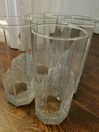 Set of 6 sparkly glasses  Oshawa, L1G 7R6