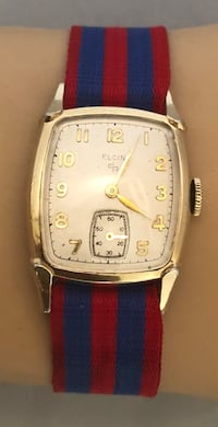 1950'S ELGIN DELUXE MENS 10K ROLLED GOLD PLATE 17 JEWEL WATCH CAL 554 RUNS! Fort Washington, 20744