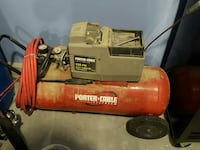 red Porter Cable air compressor