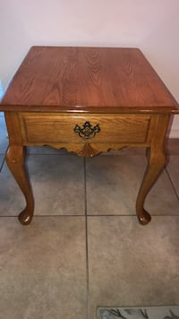 Brown wooden single drawer side table Longwood, 32750