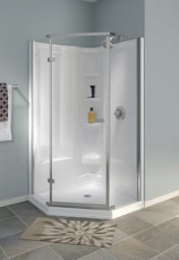 New Delta Neo Angle Corner Shower Walls Highland, 92346