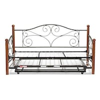 Doral Complete Metal Daybed with Link Spring Support Frame and Pop-Up Trundle Bed, Matte Black Finish, Twin (New in Box) Fort Wayne