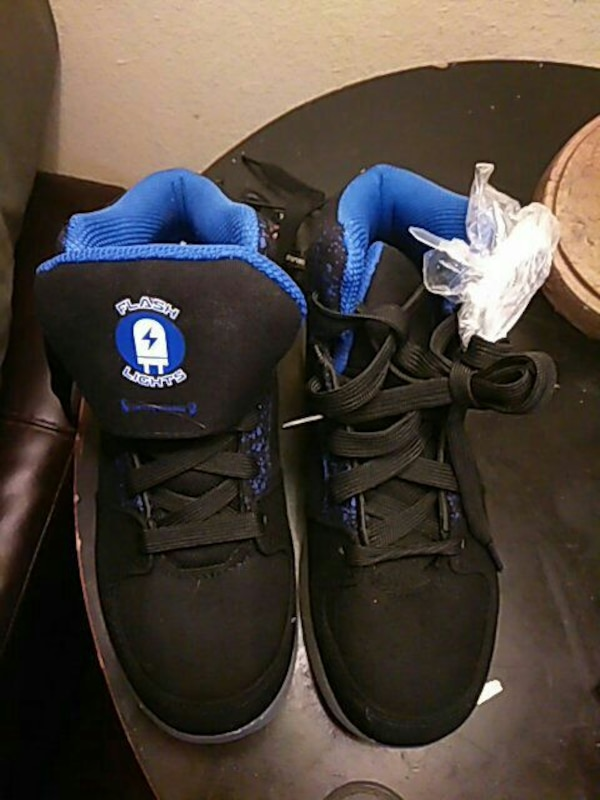 331160a3b704 Used blue-and-black Flash Lights high-top basketball shoes for sale in Corpus  Christi