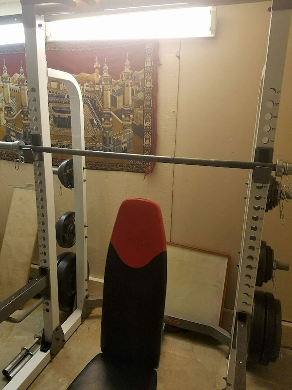 Used Squat Rack Powet Cage Bench Press Pull Ups Mor For Sale In