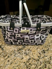 Black and grey in color foldable basket Muskegon