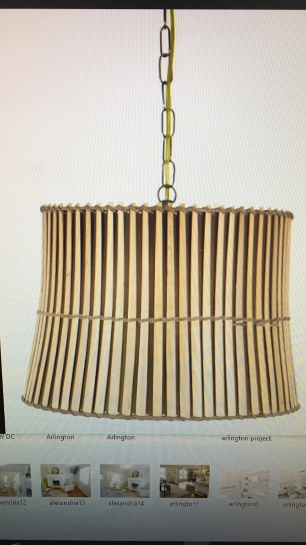 Bamboo Plug In Pendant with chain