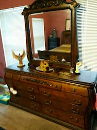 brown wooden dresser with mirror Washington, 20024
