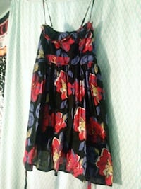 black and red floral spaghetti strap dress Eugene, 97402