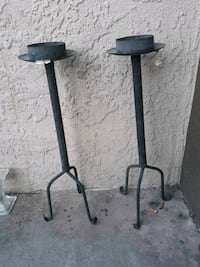 1 PAIR STANDING CANDLE HOLDERS