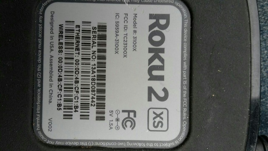 Roku 2 XS TV box, used for sale  Abbotsford