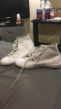 White converse high-top sneakers