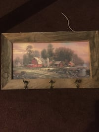 Country framed picture with hooks  Ogden, 84401