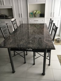 Granite kitchen table with 4 chairs New Tecumseth