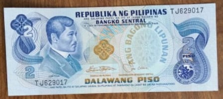 Philippines vintage Banknote currency bill