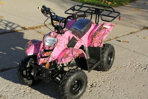 READY TO RIDE NEW 110cc KIDS gas ATV's. Remote stop
