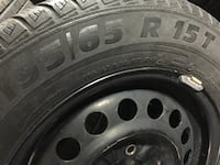 3 tires and rims winter size 195/65/15 4 bolts pattern is 4x100 good condition   Brampton, L6R 3M6
