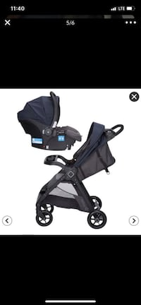 Baby stroller with car seat with base