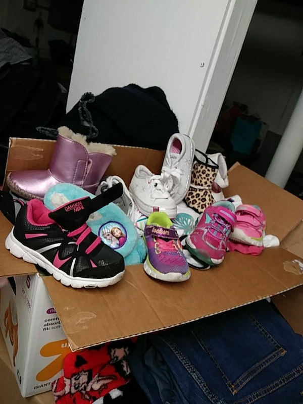 assorted pair of shoes