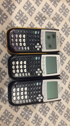 Ti-84 calculators // 80$ each. yellow one 50$ because is used a lot. other two black and grey are 80 perfect condition