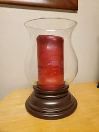 Large hurricane candle holder w/candle Midwest City, 73130