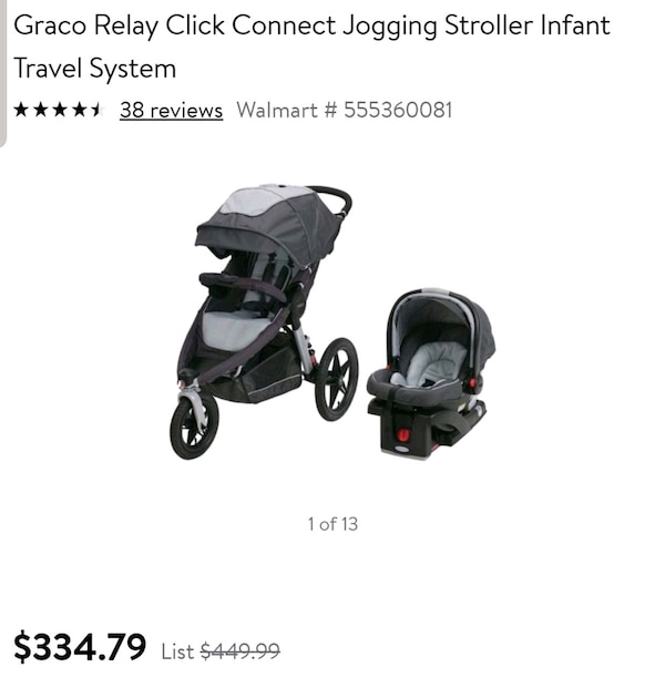 Graco Click Connect Infant Car Seat Jogger Strolle