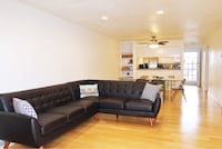 Like new brown leather sectional couch Long Beach, 90802