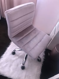 Light Pink suede rolling chair  Riverside, 92505
