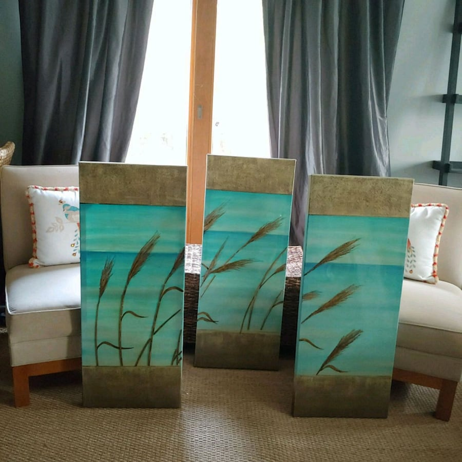 Set of 3 Oil Painting Wall Art Decor