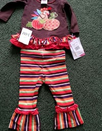 Girls Thanksgiving outfit size 3-6 months new