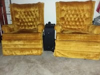 two tufted brown sofa chairs 287 mi
